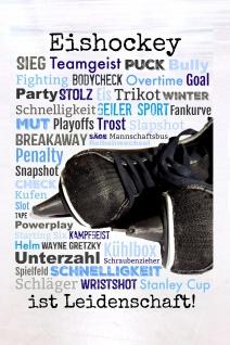 Blechschild Spruch Eishockey ist Leidenschaft Metallschild 20x30 cm Wanddeko tin sign