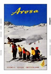 Arosa Schweiz ski blechschild