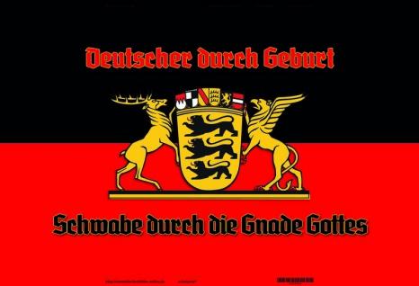 """"""" Deutsche durch geburt, Schwabe durch Gnade Gottes"""" Köln blechschild"""