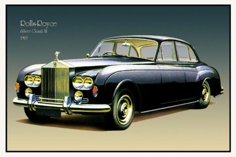 Rolls Royce Silver Cloud III 1965 auto classic blechschild
