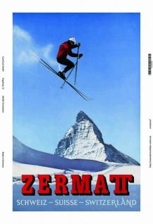 Zermat schweiz ski blechschild