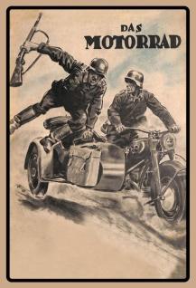 Das Motorrad zündapp wehrmacht blechschild