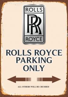 Rolls Royce Parking only blechschild