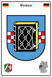 Blechschild Stadt Bochum Wappen Straßen Metallschild Wanddeko 20x30 cm tin sign