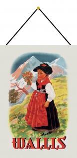 Blechschild Nostalgie Wallis Metallschild Deko 20x30 tin sign mit Kordel