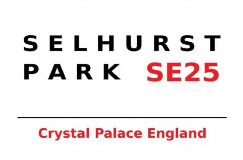 London Street Sign Selhurst Park Crystal Palace SE25 Blechschild 20x30