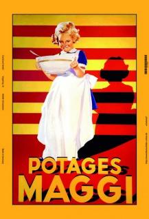 Maggi Potages mädel blechschild