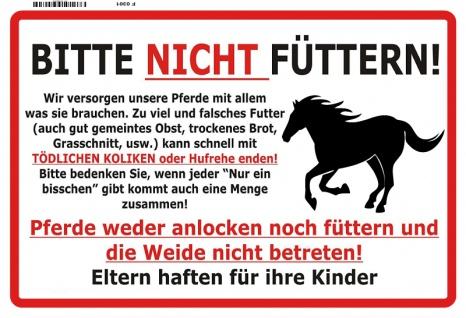 Bitte Nicht Füttern! Warnschild Pferd blechschild