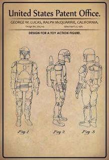 Blechschild Patent Entwurf für Kinder -Spielzeug Metallschild Wanddeko 20x30 cm tin sign