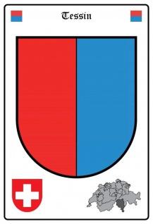 Blechschild Thessin Wappen Metallschild Wanddeko 20x30 cm tin sign