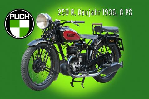 Puch 250 R 1936 8PS motorrad, motor bike, motorcycle blechschild