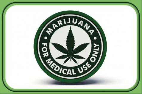 Schatzmix Blechschild Marijuana for medical use only Metallschild 20x30 cm Wanddeko tin sign