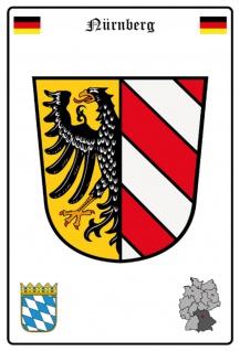 Blechschild Stadt Nürnberg Wappen Straßen Metallschild Wanddeko 20x30 cm tin sign
