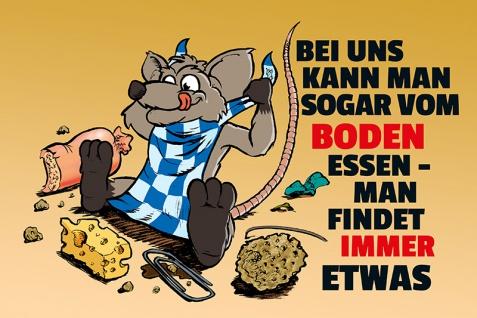""""""" Bei Uns kann Mann vom Boden Essen"""" blechschild, lustig, comic, metallschild"""
