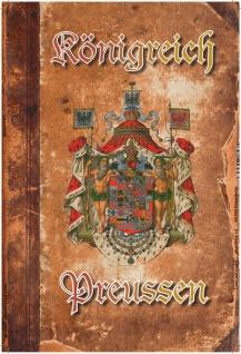 Königreich Preussen wappen, pergament, buch, blechschild