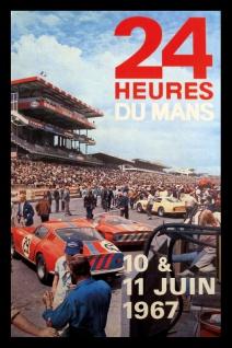 Retro: 24h Le Mans 1967 Blechschild 20x30 cm