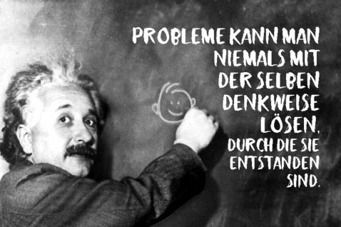 Blechschild Spruch Probleme kann niemals Einstein Metallschild Wanddeko 20x30 cm tin sign