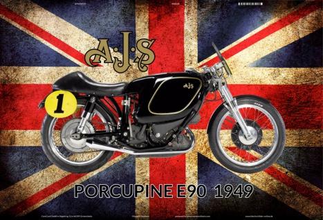 Ajs Porcupine E90 1949 UK motorrad blechschild