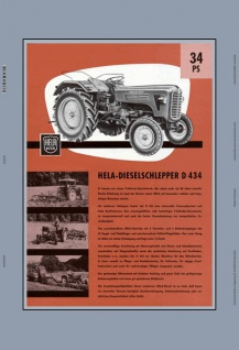 Hela Dieselschlepper D434 34PS schlepper traktor trekker blechschild
