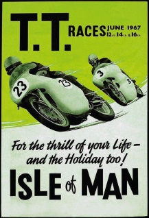 Retro: T.T. Races - Isle of Man 1967 Metallschild Wanddeko 20x30 cm tin sign