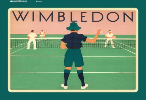Wimbledon Tennis Sport Blechschild 20x30 cm
