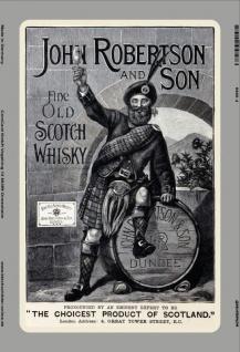 John Robertson & Son whisky scotch reklame blechschild