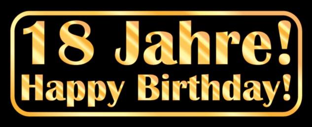 Blechschild Spruch Geburtstag 18 Jahre Happy Birthday Metallschild 27x10 cm Wanddeko tin sign