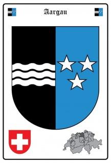 Blechschild Aargau Wappen Metallschild Wanddeko 20x30 cm tin sign