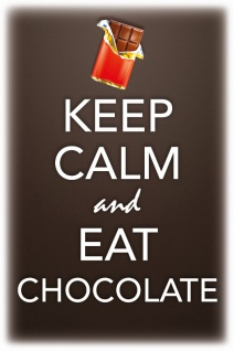 Keep Calm and Eat Chocolate Blechschild 20x30 cm
