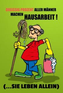 """""""?Männer Machen Hausarbeit?"""" - blechschild, lustig, comic, metallschild, dekoschild, spruchschild, junggeselle"""
