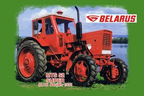 Belarus MTS 52 Super 60PS 1972 tracktor trekker blechschild