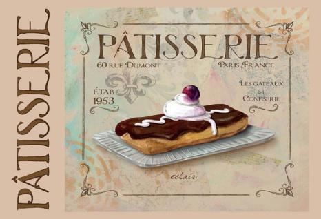 Patisserie Kuchen bäckerei eclair blechschild