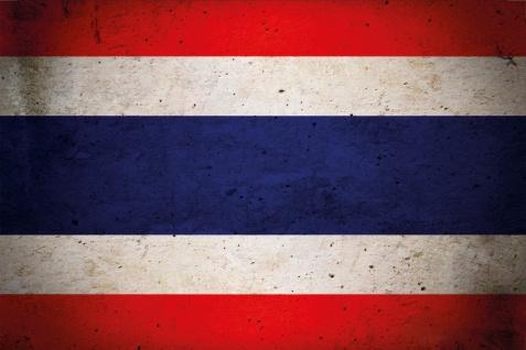 Länder Fahne - Thailand- National Flagge Thai blechschild, dekoschild, retro