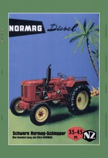 Normag diesel schwere diesel 35-45 PS traktor trekker schlepper blechschild