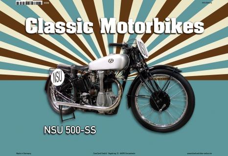 NSU 500-SS Classic Motorrad Blechschild - Vorschau