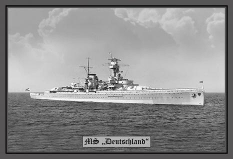 MS Deutschland kriegschiff boot blechschild