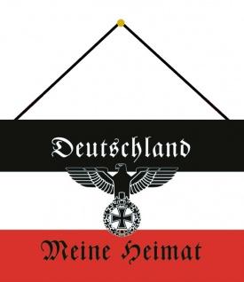 Blechschild Spruch Deutschland meine Heimat mit Adler Deko 20x30 m.Kordel