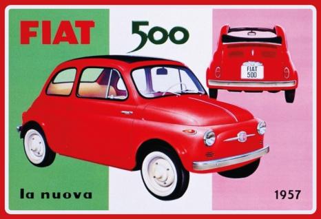 Fiat 500 la nuova 1957 auto blechschild