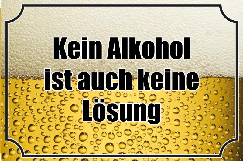 Kein Alkohol Ist Auch Keine Lösung Lustig Bier Spruchschild Blechschild