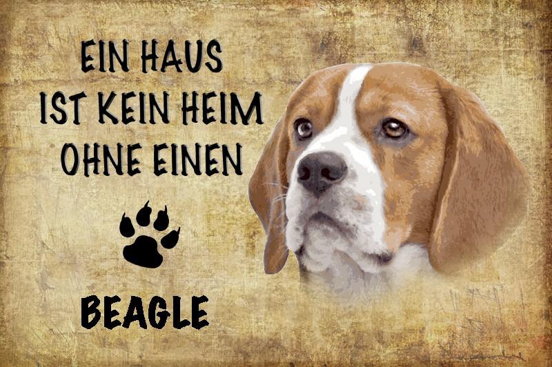 Ein Haus Ist Kein Heim Ohne Einen Beagle Hund Blechschild