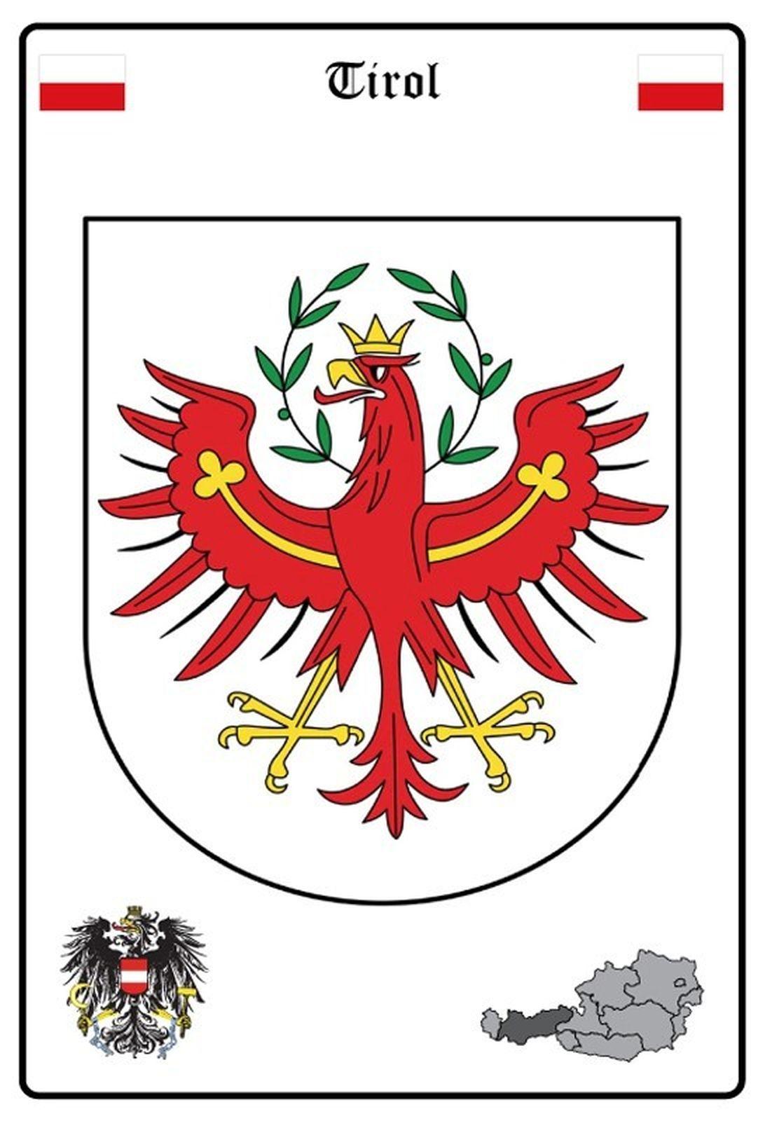 Blechschild Österreich Wappen Metallschild Wanddeko 20x30 cm tin sign