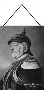 Blechschild Nostalgie Portrait Otto von Bismarck Metallschild 20x30 mit Kordel