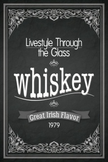 Schatzmix Blechschild Lifestyle Through The Glass whisky whiskey 1979 Metallschild 20x30 cm Wanddeko tin sign