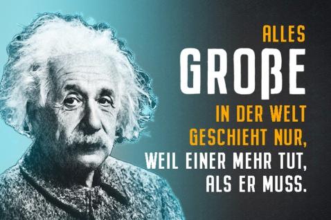 Blechschild Spruch Alles Große der Welt Einstein Metallschild Wanddeko 20x30 cm tin sign