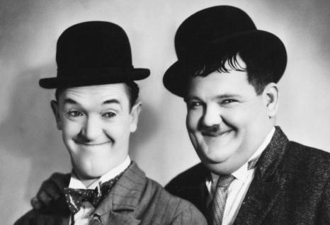 Blechschild Laurel & Hardy (Dick & Doof) Metallschild Wanddeko 20x30 cm tin sign