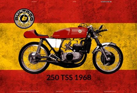 Bultaco 250 TSS 1968 Spanien motorrad blechschild