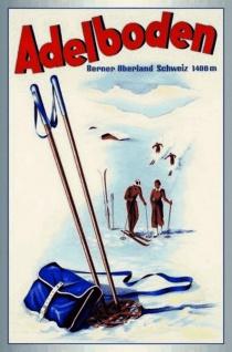 Nostalgie: Adelboden (Schweiz) Blechschild 20x30 cm