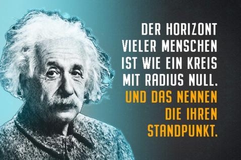 Blechschild Spruch Einstein Der Horizont vieler Menschen Metallschild Wanddeko 20x30 cm tin sign