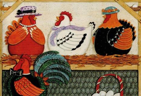 Huhner mit eier blechschild
