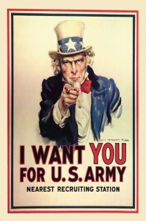 Nostalgie: I want you for US Army Recruiting Blechschild 20x30 cm